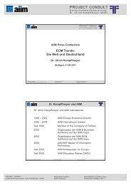 Präsentation - Project Consult Unternehmensberatung Dr. Ulrich ...
