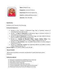 Name: Mr. Abhijeet Auti Designation: Assistant Professor ... - SIT