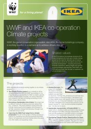 Factsheet on IKEA and WWF climate cooperation