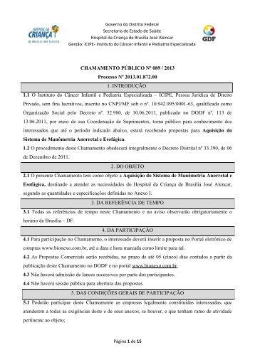cp089_2013.pdf - Hospital da Criança de Brasília José Alencar