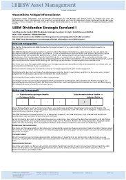LBBW Dividenden Strategie Euroland I - LBBW Asset Management ...
