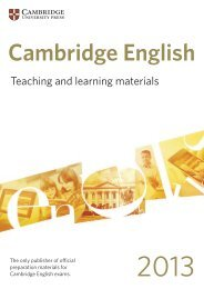 English Language Teaching - Cambridge University Press India