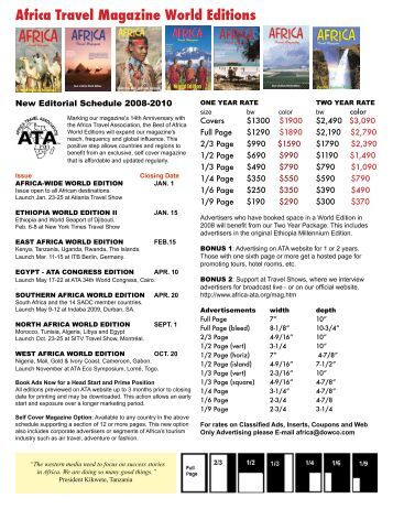 Africa Travel Magazine World Editions - air highways - magazine of ...