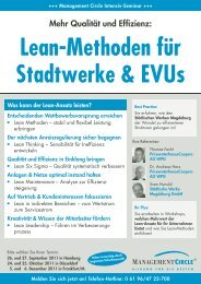 Lean-Methoden für Stadtwerke & Evus - Management Circle AG