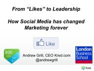 """""""Likes"""" to Leadership How Social Media has changed ... - Andrew Grill"""