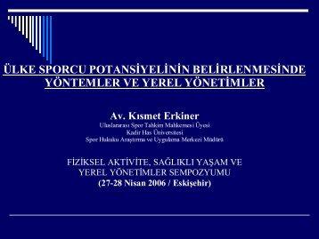 Av.-Kismet-ERKİNER-Ulke - Türkiye Sağlıklı Kentler Birliği