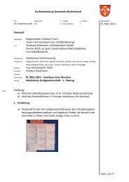 Protokoll 25. März 2013 Dorfentwicklung Gemeinde Rechtenbach ...