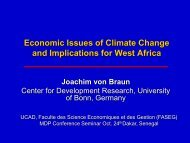 Economic Issues of Climate Change and Implications ... - MDP UCAD