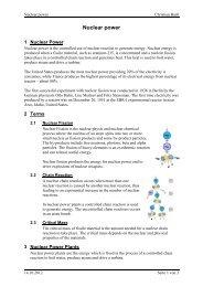 Nuclear power - bartlweb