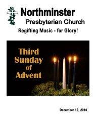 Regifting Music - for Glory! - Northminster Presbyterian Church