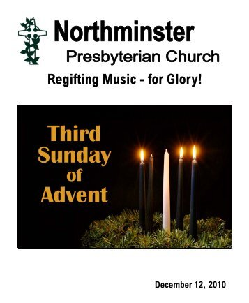 Regifting Music - for Glory! - Northminster Presbyterian Church