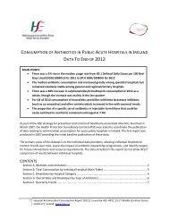 consumption of antibiotics in public acute hospitals in ireland data to ...