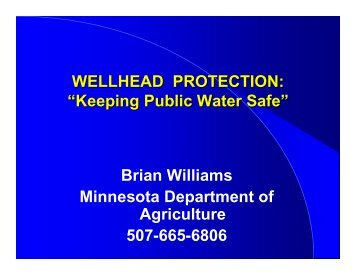 Keeping Public Water Safe - Department of Agronomy and Plant ...