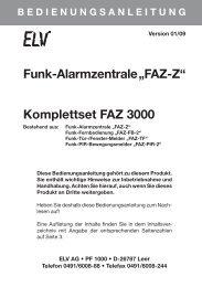 "Funk-Alarmzentrale ""FAZ-Z"" Komplettset FAZ 3000 - ELV"