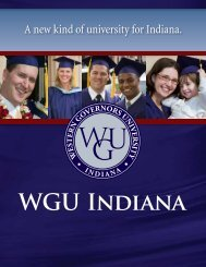 General Brochure - Indiana Online University - Western Governors ...