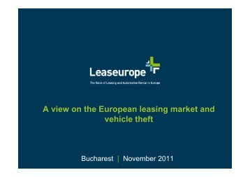 Impact of the Crisis on European Leasing - ALB
