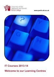 IT Course Booklet - Perth College