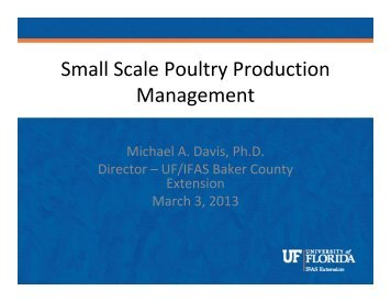 Poultry Production_Management 3/12/13 - Duval County Extension ...