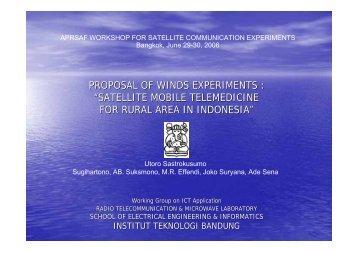 satellite mobile telemedicine for rural area in indonesia - APRSAF