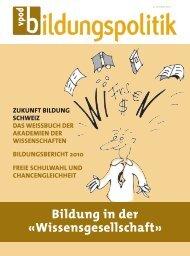 Bildung in der «wissensgesellschaft» - vpod-bildungspolitik
