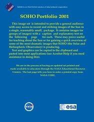 SOHO Portfolio 2001 - Nasa