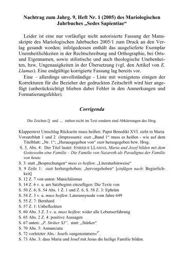 Corrigenda - Prof. Dr. Johannes Stöhr