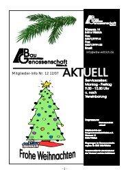 Mitglieder-Info Nr. 12 12/07 - Gemeinnützige Baugenossenschaft ...