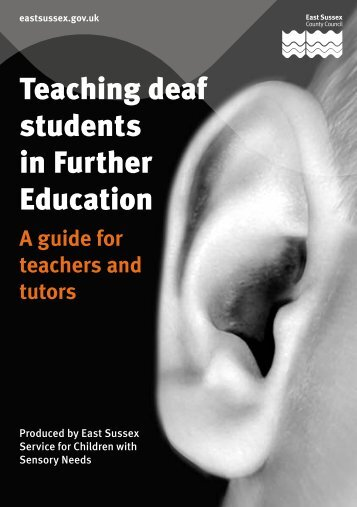 Teaching deaf students in FE - Czone - East Sussex County Council