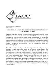iacc global ad campaign targeting consumers of counterfeit ... - GACG