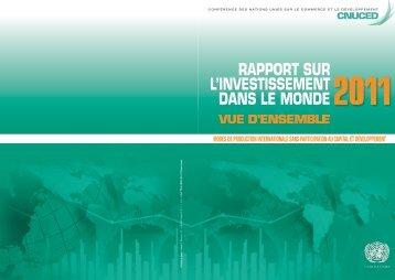 Rapport sur l'investissement dans le monde 2011 - unctad