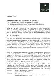 PRESSEMELDUNG GOLFINO AG: Stephan Rönn neues Mitglied ...