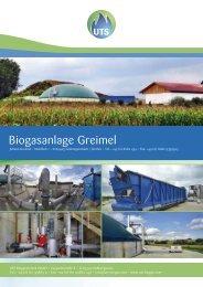 Biogasanlage Greimel - UTS Biogas
