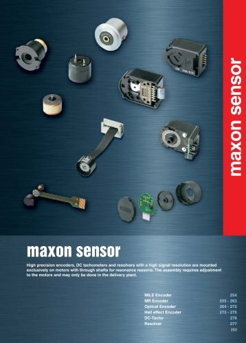 maxon sensor - Intex Connect