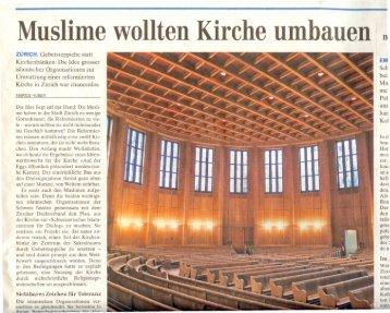 Muslime wollten· Kirche umbauen