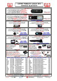 Listino GMA Bluetooth Pubblico Lug 2012 - GMA ITALIA srl