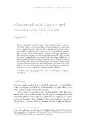 Kontext och mänskliga samspel - Ett sociokulturellt perspektiv på lärande