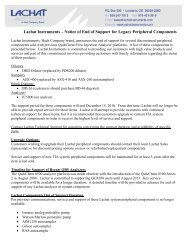 Notice of End of Support for Legacy Peripheral Components