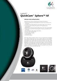 QuickCam® Sphere™ AF  Package contents - Inet.se