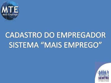 Sistema Mais Emprego – Manual - simespi