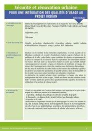 IAUIF sécurité et rénovation urbaine - CETE de Lyon