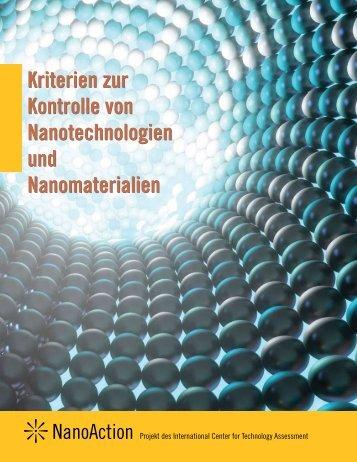 Kriterien zur Kontrolle von Nanotechnologien und Nanomaterialien ...