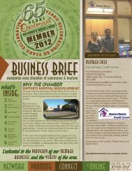 October 2012 - Owatonna Chamber of Commerce and Tourism