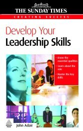 Develop your leadership skills- John Adair. -- 2nd ... - About University