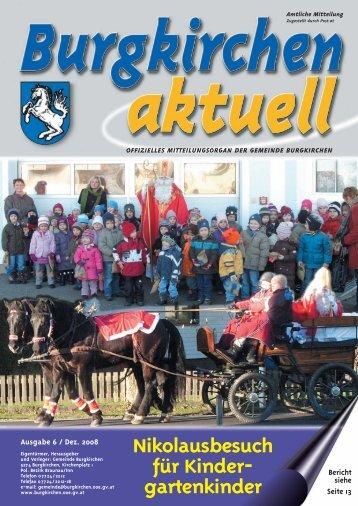 Ausgabe 6, Dezember 2008 (1,85 MB) - Burgkirchen