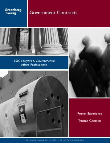 Government Contracts - Greenberg Traurig LLP