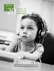 Annual Report: Part I - Department of Education - Concordia University