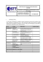 Condition Assessment & Rehabilitation Planning - ASTT