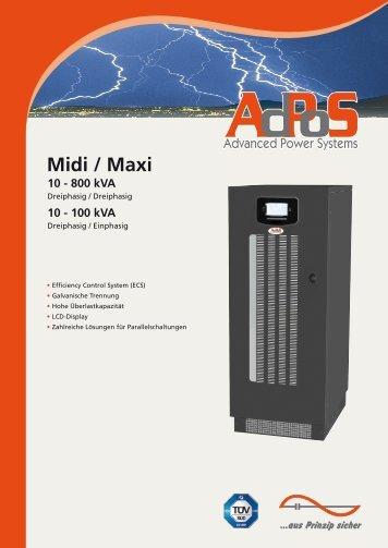 Prospekt und Technische Spezifikationen - AdPoS USV