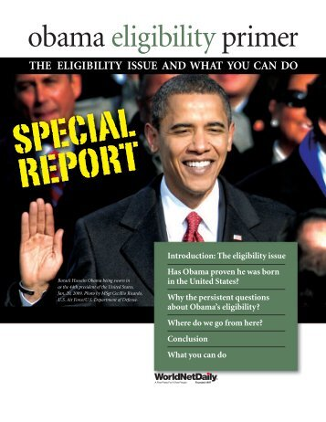 obama eligibility primer - WorldNetDaily