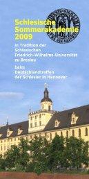 Programm Sommerakademie